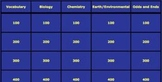 Blank Jeopardy Game Template
