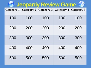 Jeopardy online game template images templates design ideas 100 jeopardy online game template playing jeopardy with jeopardy online game template jeopardy game template editable pronofoot35fo Image collections