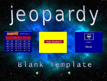 Blank Jeopardy Template - Easy to Use