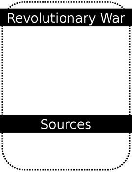 Blank Jotting Sheet (Example: Revolutionary War)