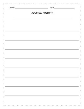 Blank Journal Prompt Paper