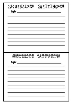 Blank Journal Writing Booklet