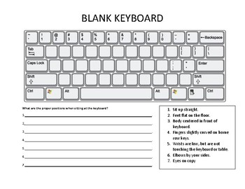 Blank Keyboard with 7 Proper Keyboard Positions