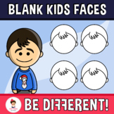 Diverse Blank Kids Clipart Faces Pack (PartyHead Kiddos)
