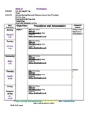 Blank Kindergarten Lesson Plan Template