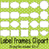 Blank Label Frames Clipart