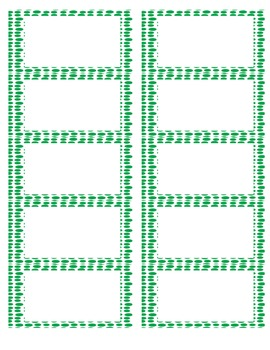 Blank Labels Dark Green Dots from The Uncluttered Teacher