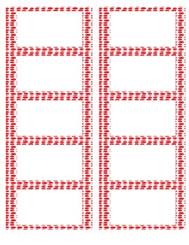 Blank Labels Red Dots from The Uncluttered Teacher