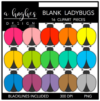Blank Ladybugs {Graphics for Commercial Use}