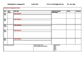 Language arts planning sheet