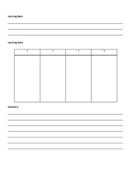 Blank Learning Goal Entrance Exit Ticket