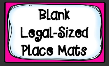 Blank Legal-Sized Consensus Place Mats