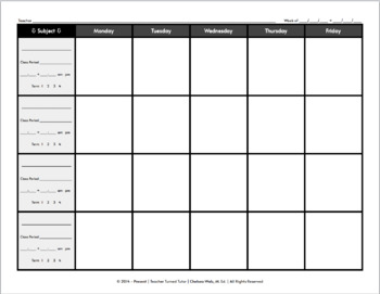 Blank Lesson Plan Template