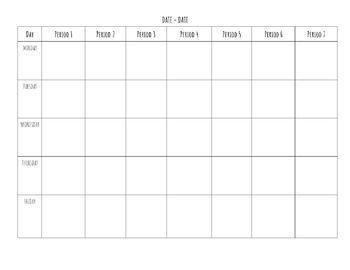 Blank Lesson Plan Template *Editable Word Document