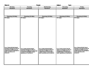 Blank Lesson Plan Template (editable)