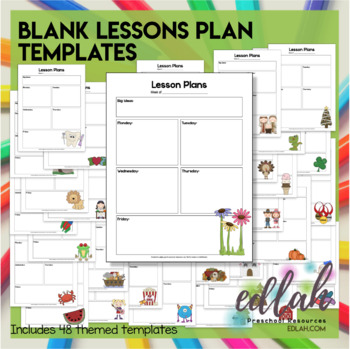 Blank Lesson Plan Templates With Pictures By Melissa Schaper TpT