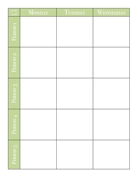 Blank Lesson Planning Book Pages