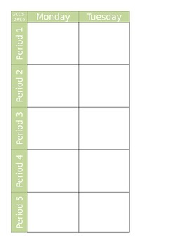 Blank Lesson Planning Book Pages - Editable