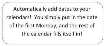 Blank LessonPlan Templates: 2-week, 10-week, and 1-year Calendars