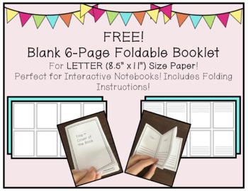 Blank Letter-Size 6-Page Foldable Booklet