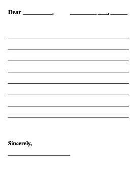 Blank Letter Template