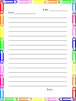 Blank Letter Template By Aim Hyre In Education Tpt