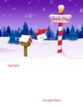 Blank Letter to Santa Plus Envelope Template