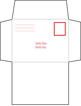 Blank Letter To Santa Plus Envelope Template