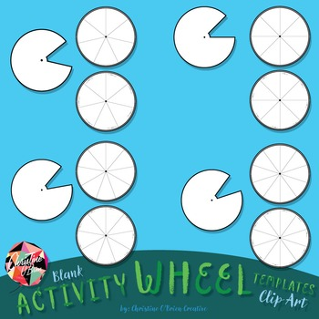Blank Activity Wheel Templates Clip Art Set