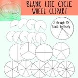 Blank Life Cycle Wheel Science Clip Art - 18 pc set