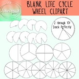 Blank Life Cycle Wheel Science Clip Art - 18 pc set