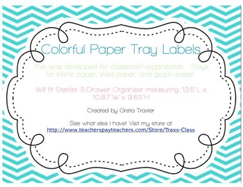 Blank, Lined, Graph Paper Tray Labels