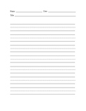 Blank Lined Paper with Dotted Lines