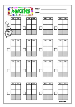 Blank MAB Column Addition and Subtraction Worksheets