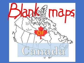 Blank Maps of Canada