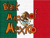 Blank Maps of Mexico