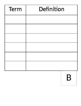 Blank Math Dictionary