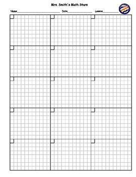blank math homework practice sheet customizable by 3brightstars