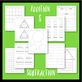 Blank Math Template for Place Value, Addition, Subtraction, and Comparing