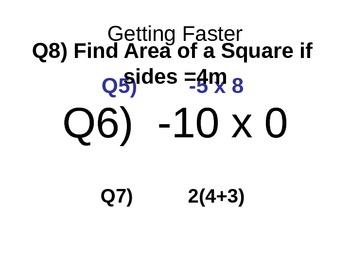 Blank Maths Speed Test