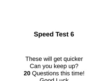 Blank Maths Speed Test