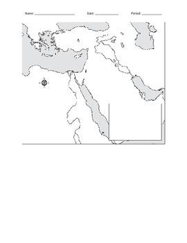 Blank Mesopotamia Map