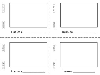 Blank Mini-Book Template (and fill-in sentences)