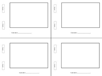 Blank Mini Book Templates (customizable)
