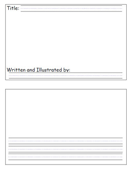 Blank Minibook for Student Writing