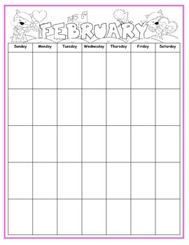 Blank Monthly Calendars And Polka Dot Months Of The Year
