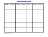 Blank Monthly Planning Calendar Page