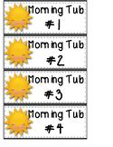 Blank Morning Tub Labels