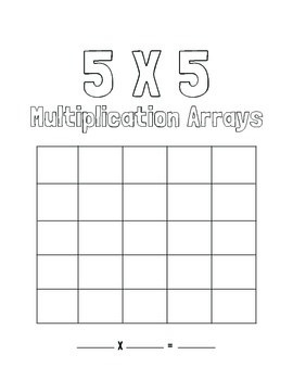 Blank Multiplication Arrays - Up To 5 X 5