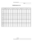 Blank Multiplication Charts In and Out of Order